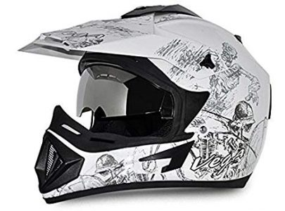 Vega Off Road w1 Motorsports Helmet with Single Visor